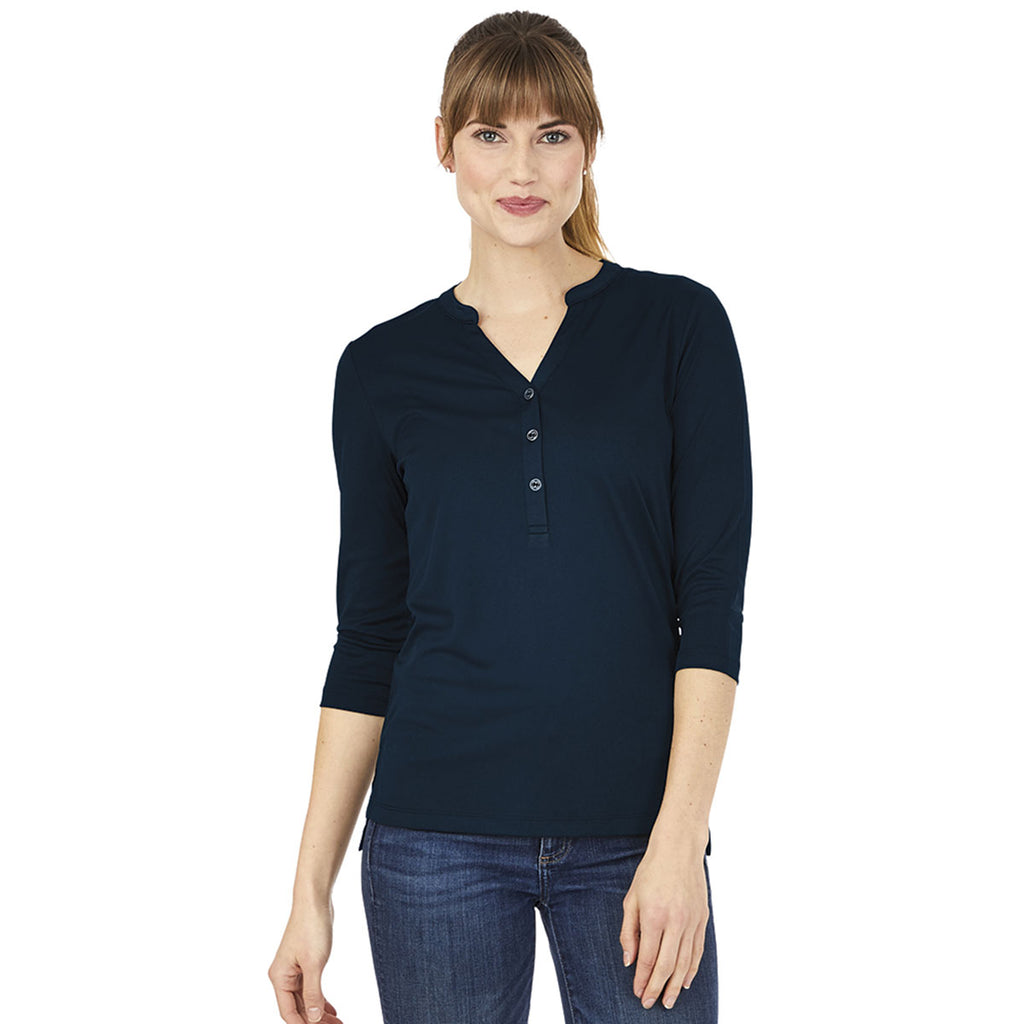 Charles River Women's Navy Windsor Henley