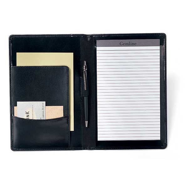 Gemline Black Wall Street Junior Writing Pad