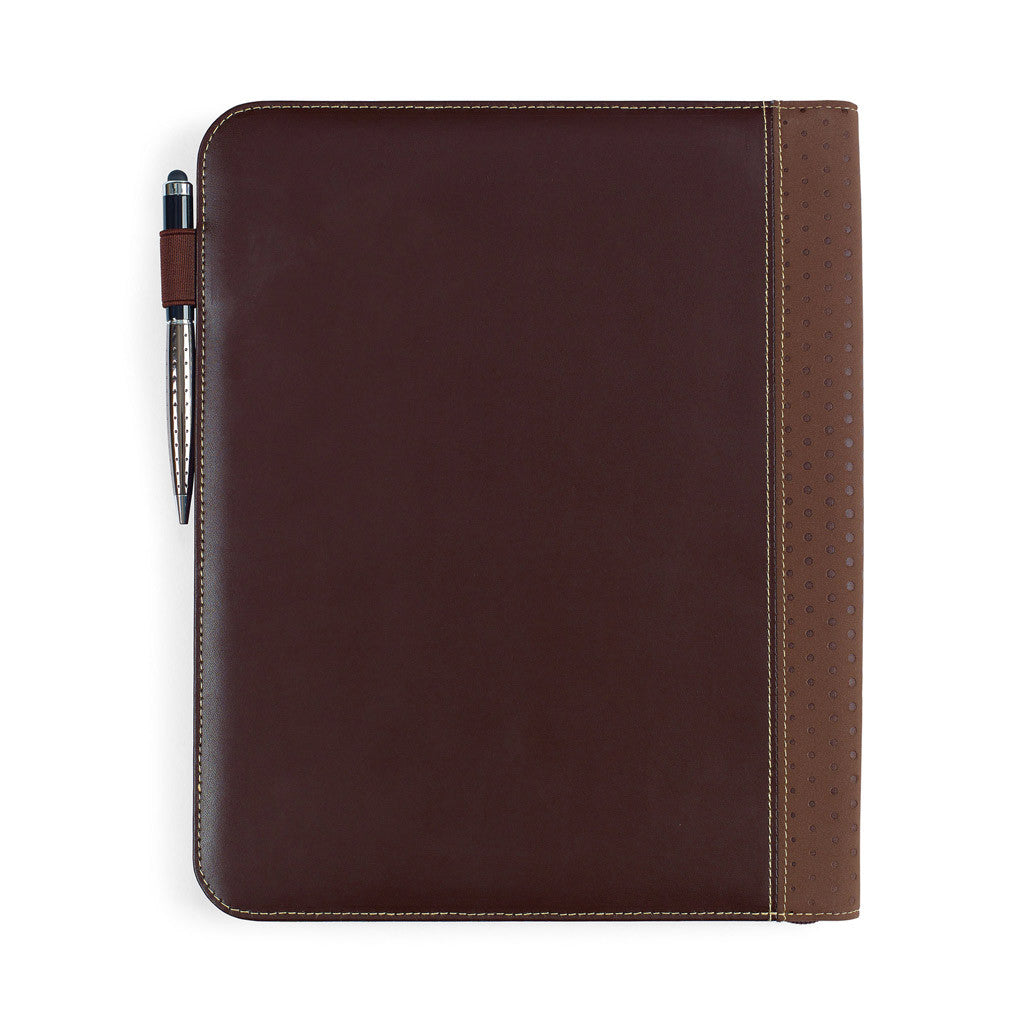 Gemline Brown Cedar Leather Padfolio
