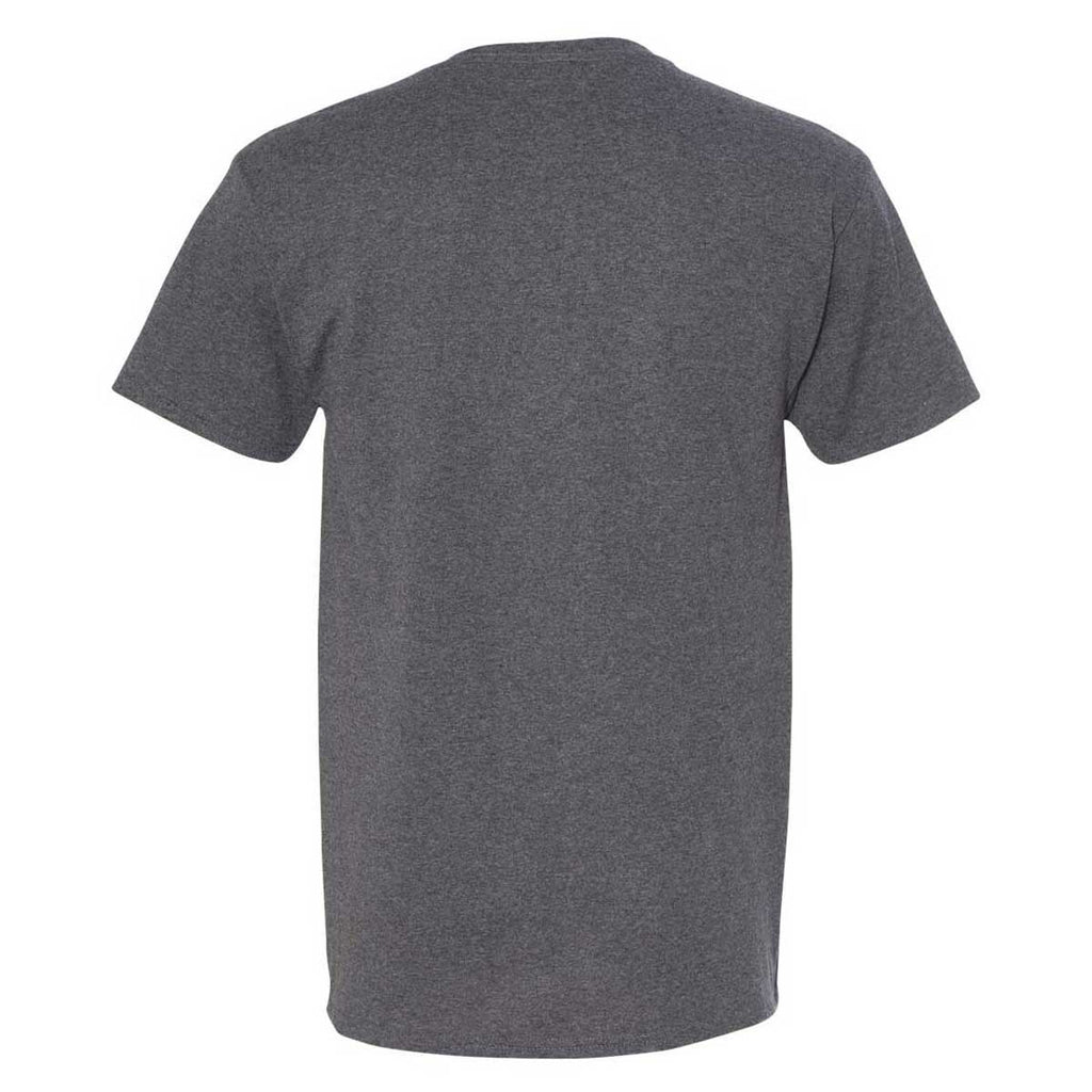 Jerzees Men's Black Heather Dri-Power 50/50 T-Shirt with a Pocket