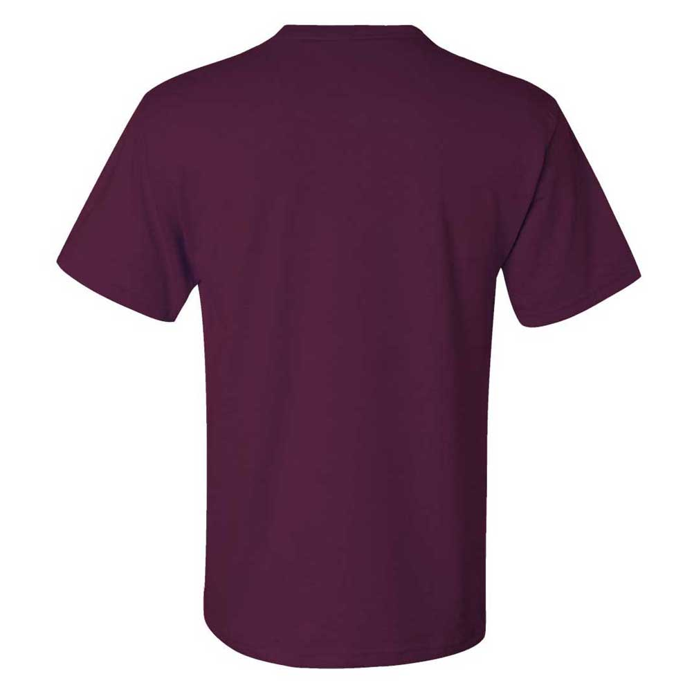 Jerzees Men's Maroon Dri-Power 50/50 T-Shirt with a Pocket