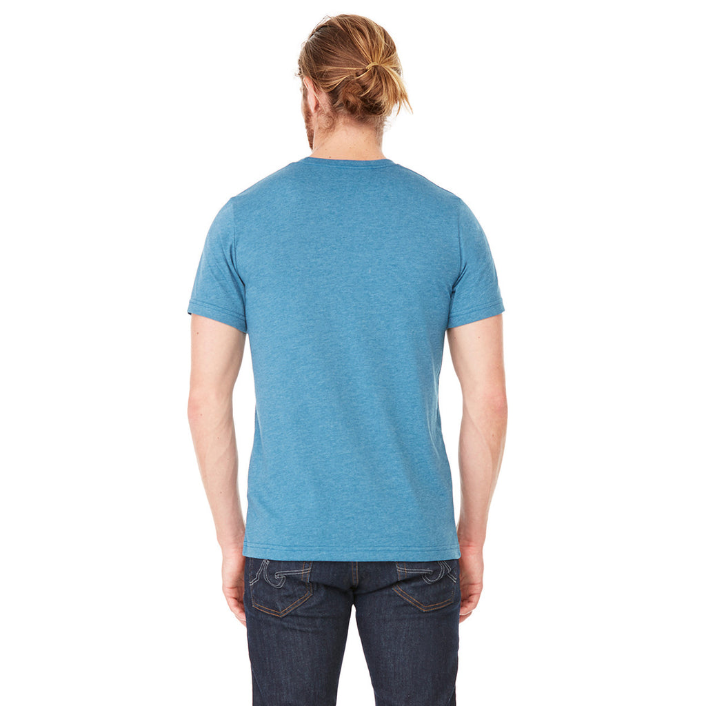 Bella + Canvas Unisex Heather Deep Teal Jersey Short-Sleeve T-Shirt