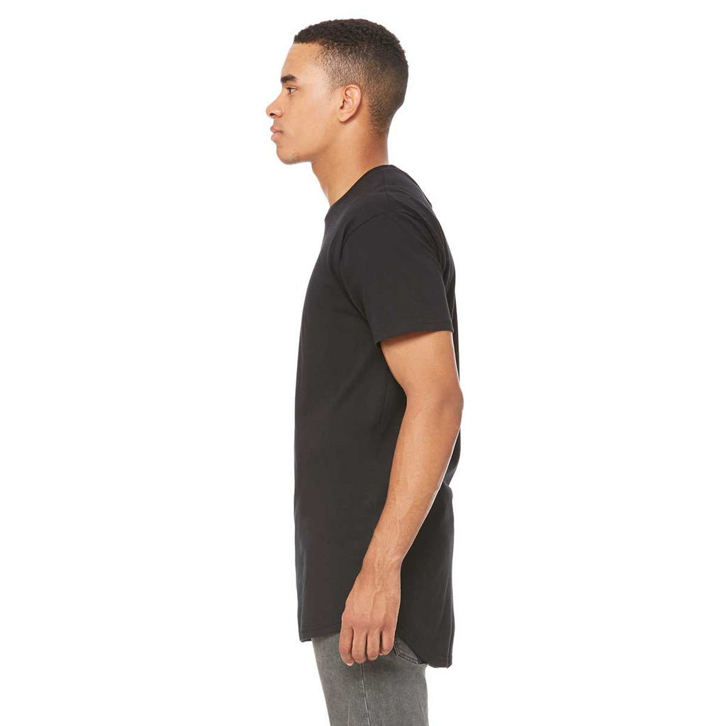 Bella + Canvas Men's Black Long Body Urban T-Shirt