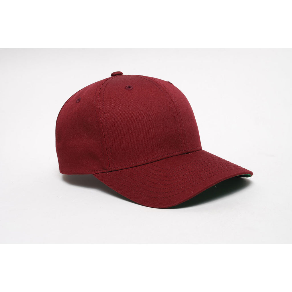 Pacific Headwear Maroon Velcro Adjustable Cotton Poly Cap cea682cf1a0