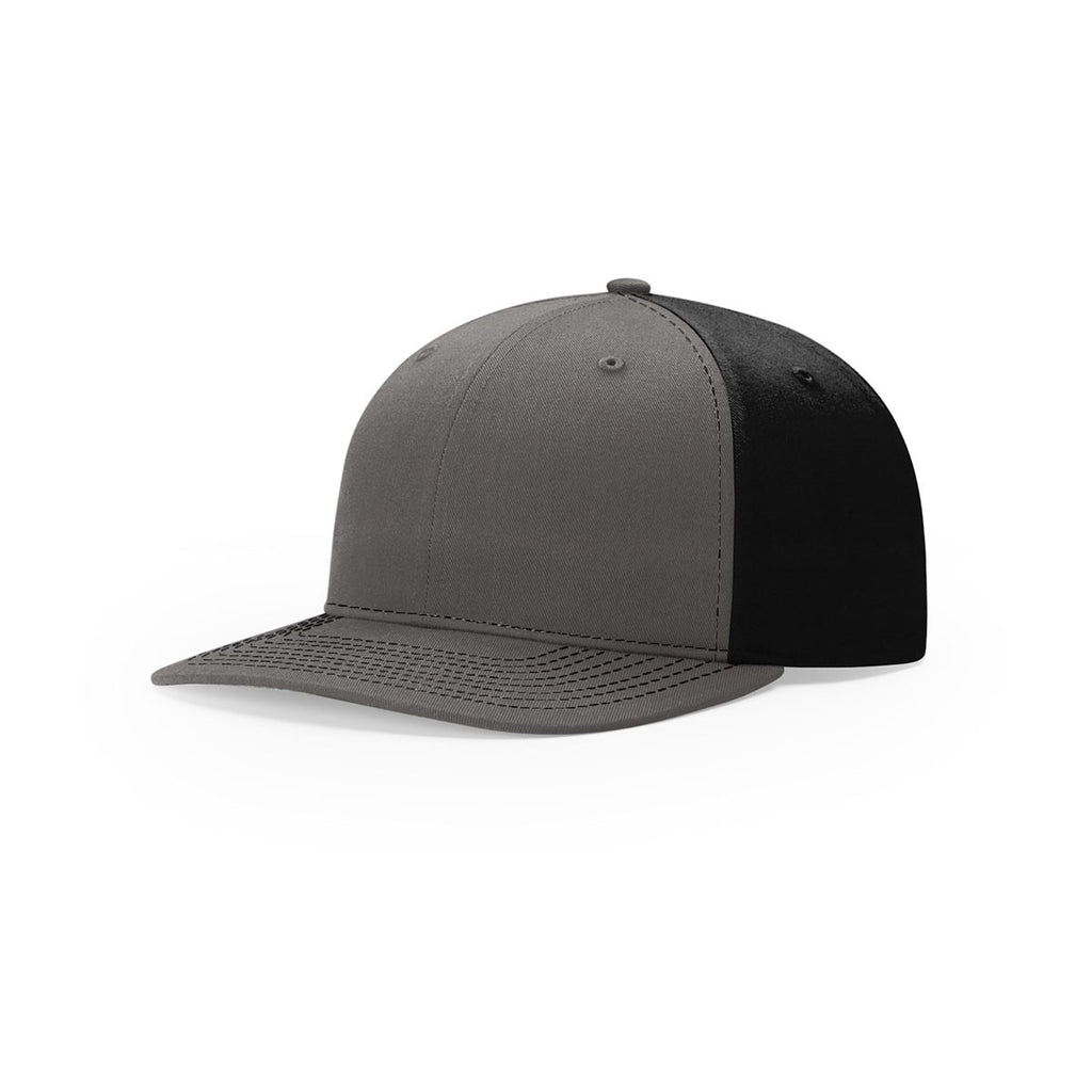 55cca23e7 Richardson Charcoal/Black Lifestyle Structured Twill Back Trucker Hat