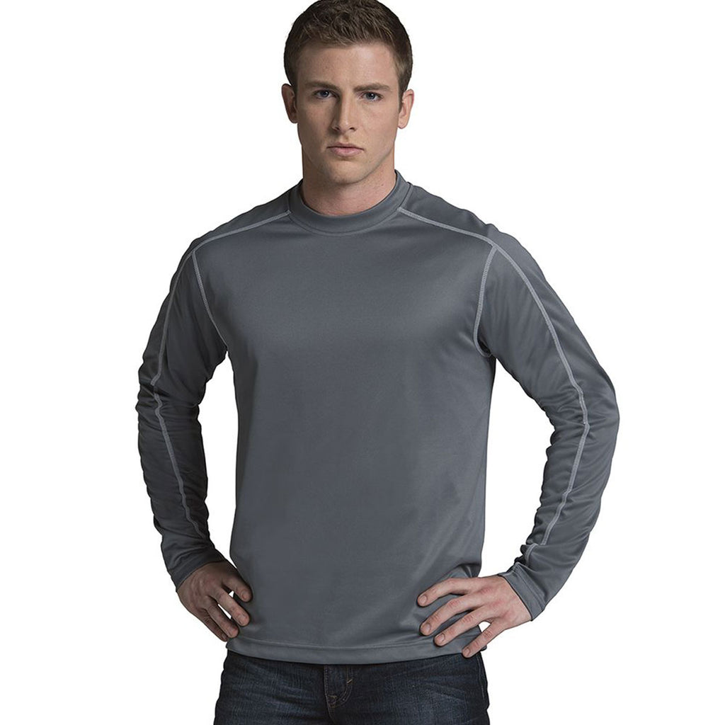Charles River Men's Grey Long Sleeve Wicking Tee