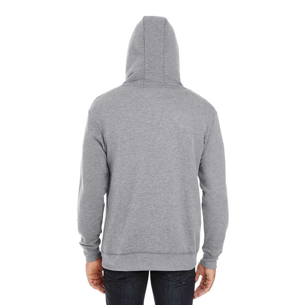 Threadfast Unisex Charcoal Heather Triblend French Terry Hoodie