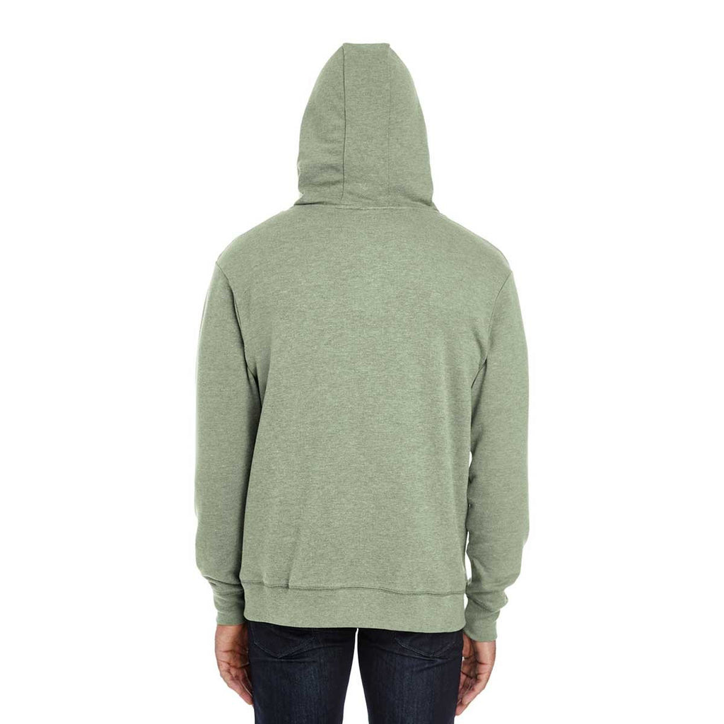 Threadfast Unisex Army Heather Triblend French Terry Full-Zip