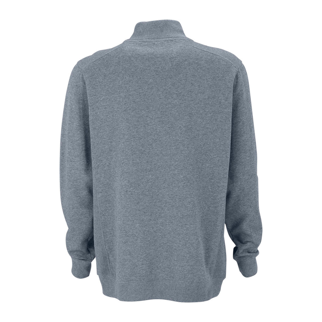 Vantage Men's Dark Steel Premium Cotton 1/4-Zip Fleece Pullover