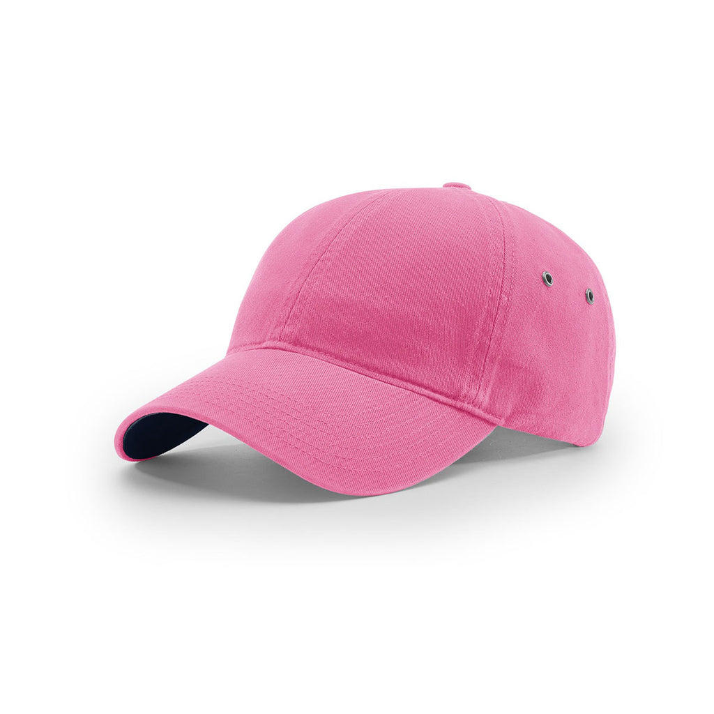 310bda9d23dcd Richardson Hot Pink Lifestyle Unstructured Washed Chino Polo Cap