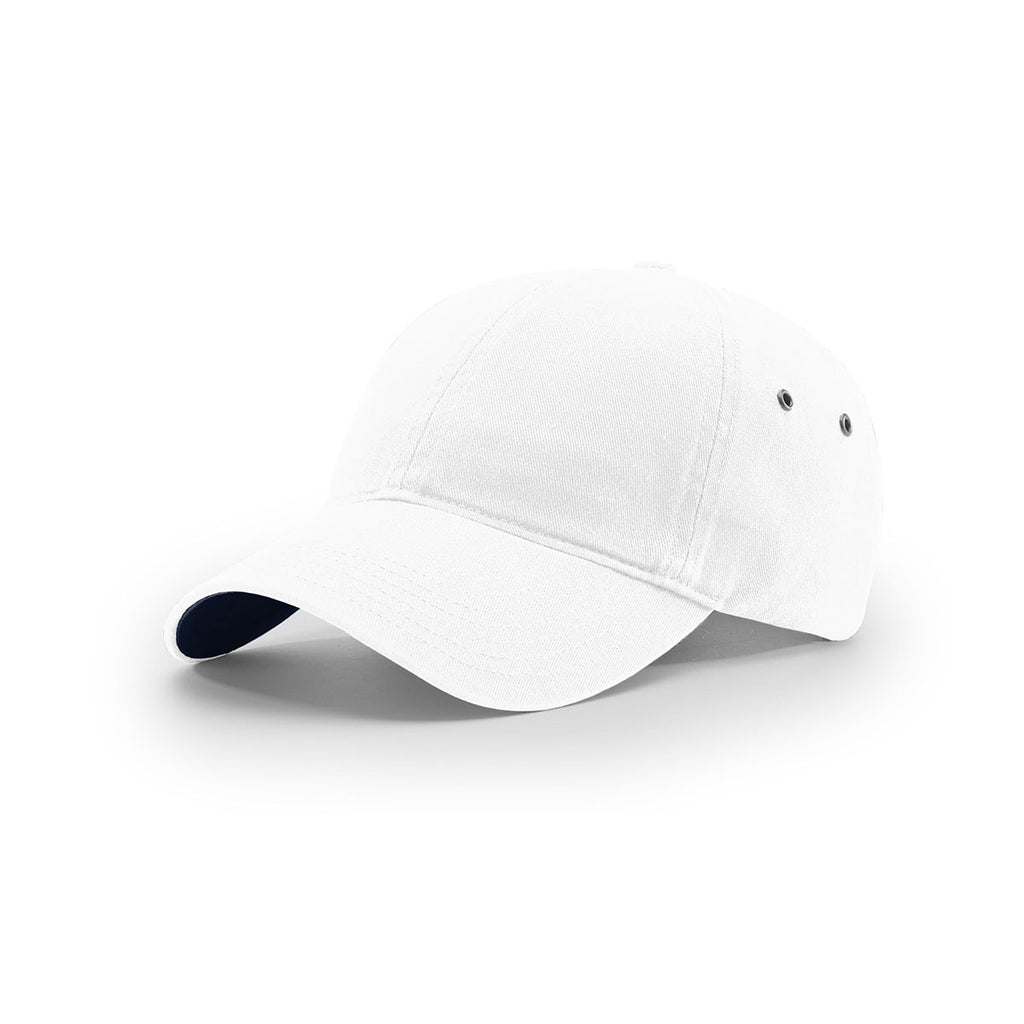 4d03399dd5344 Richardson White Lifestyle Unstructured Washed Chino Polo Cap