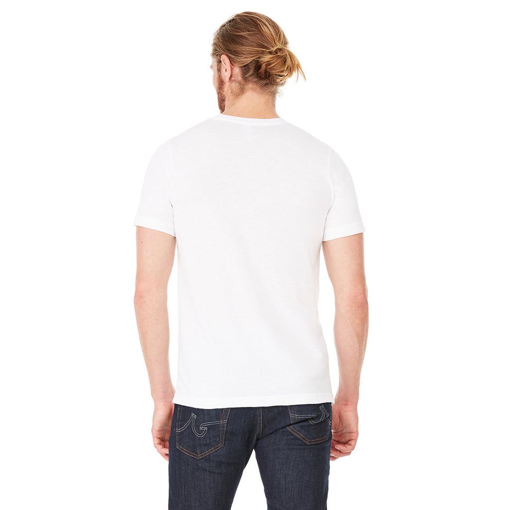Bella + Canvas Unisex Solid White Triblend Short-Sleeve T-Shirt