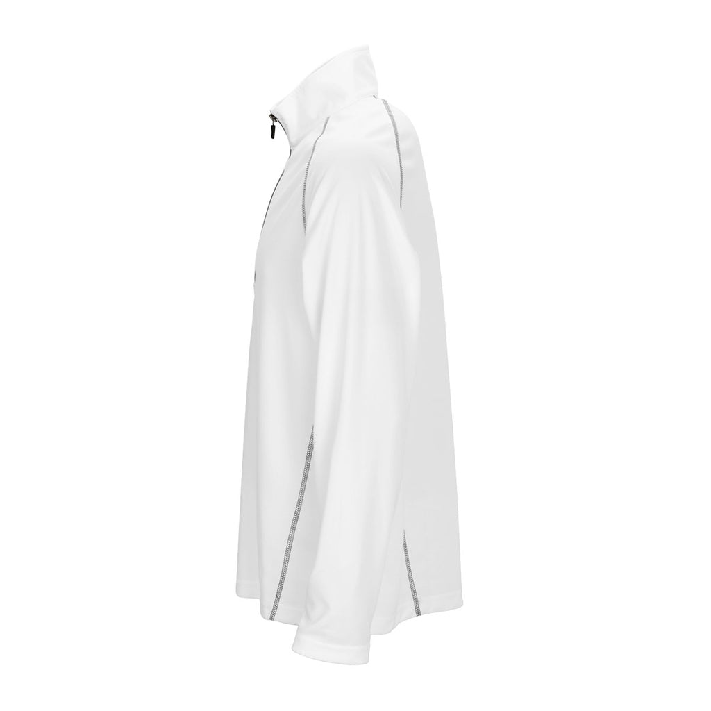 Vantage Men's White Performance Pullover