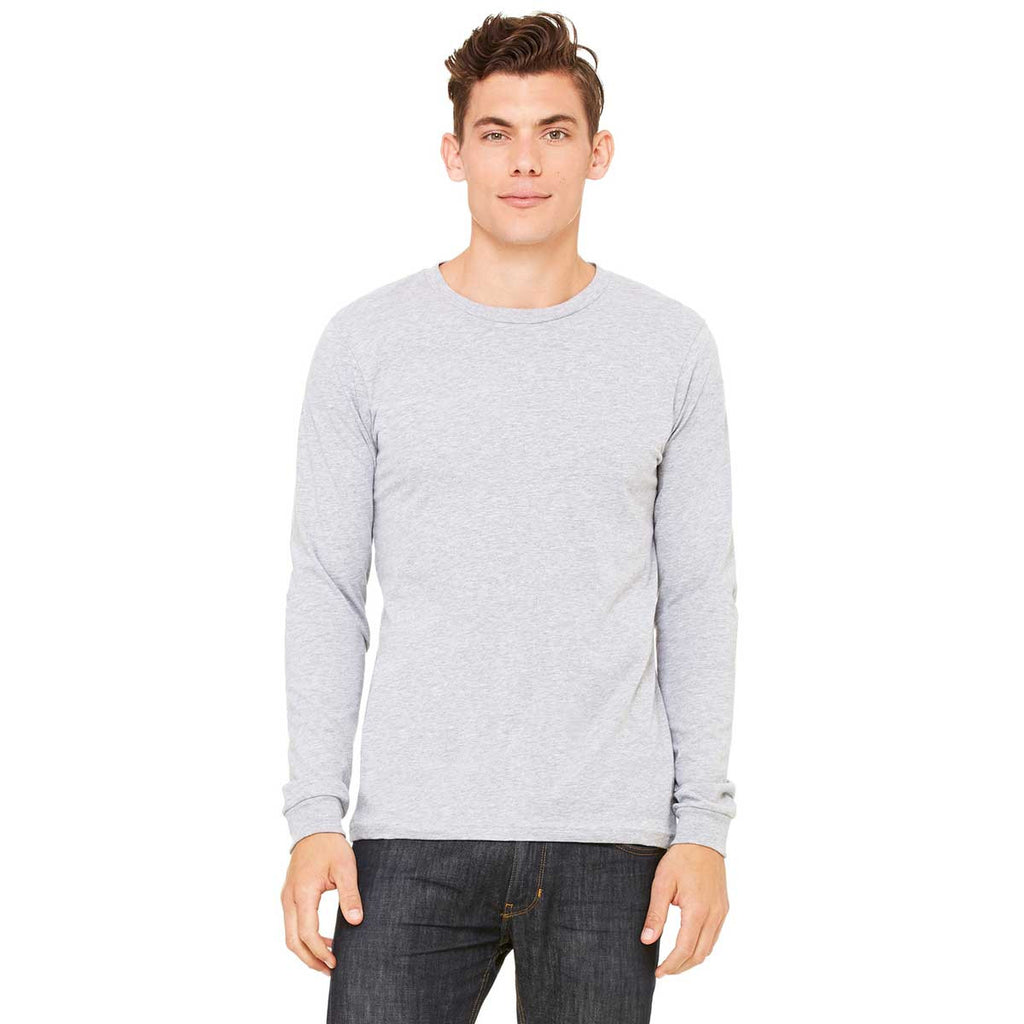 acfc94660 Bella + Canvas Men's Athletic Heather Jersey Long-Sleeve T-Shirt. ADD YOUR  LOGO