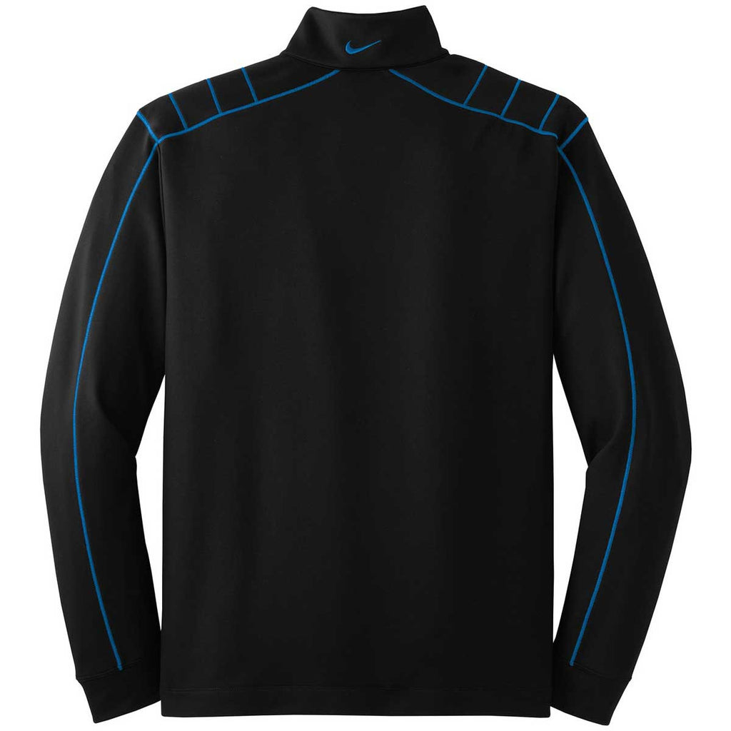 Nike Men's Black/Blue Dri-FIT L/S Quarter Zip
