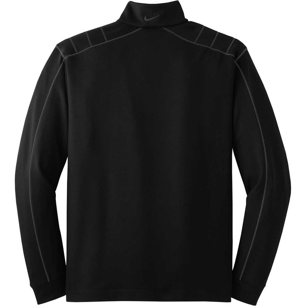 Nike Men's Black/Grey Dri-FIT L/S Quarter Zip