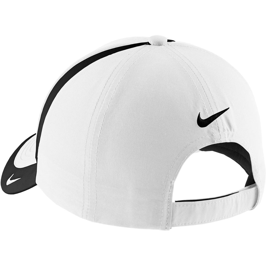 Nike White/Black Dri-FIT Colorblock Cap