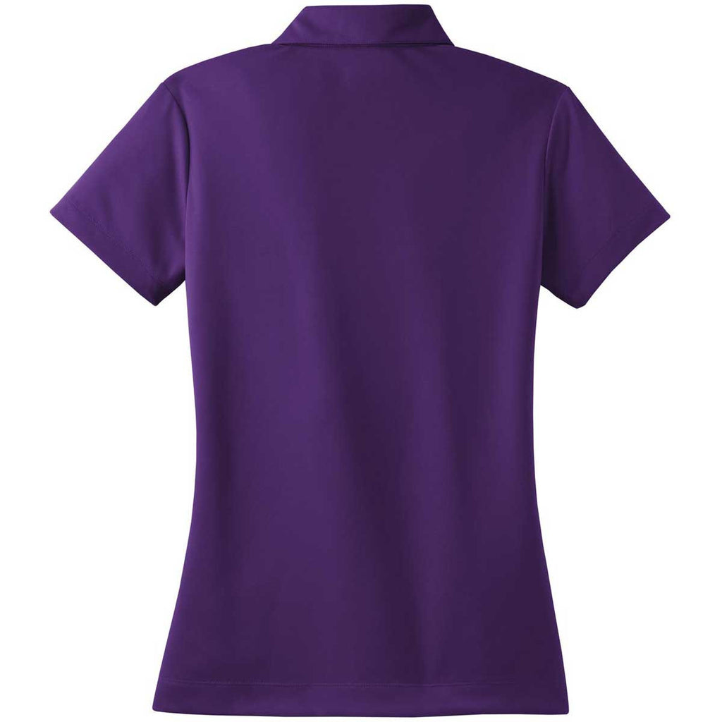 Nike Women's Purple Dri-FIT Short Sleeve Micro Pique Polo