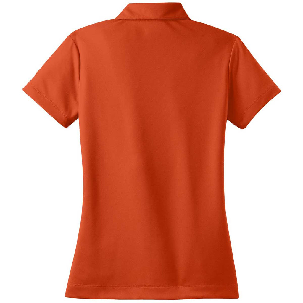 Nike Women's Orange Dri-FIT Short Sleeve Micro Pique Polo