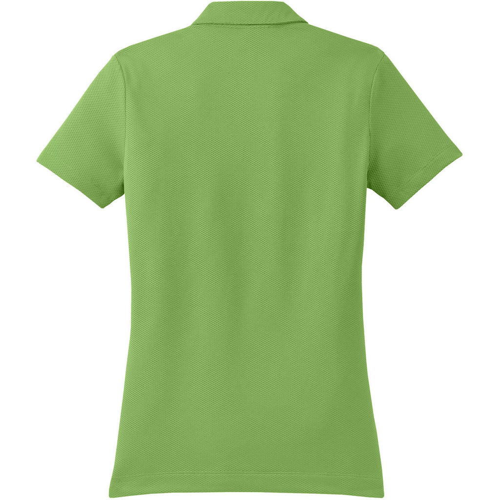Nike Women's Light Green Sphere Dry S/S Diamond Polo