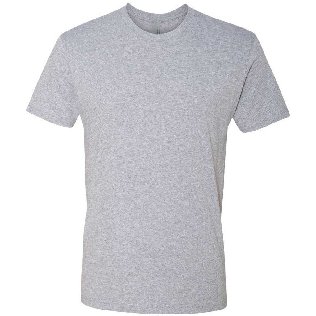Next Level Men 39 S Heather Gray Premium Fitted Short Sleeve Crew