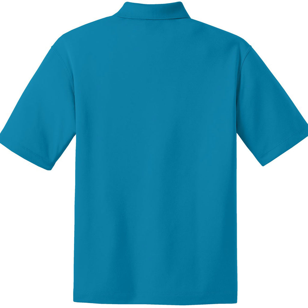 Nike Men's Bright Blue Dri-FIT Short Sleeve Micro Pique Polo
