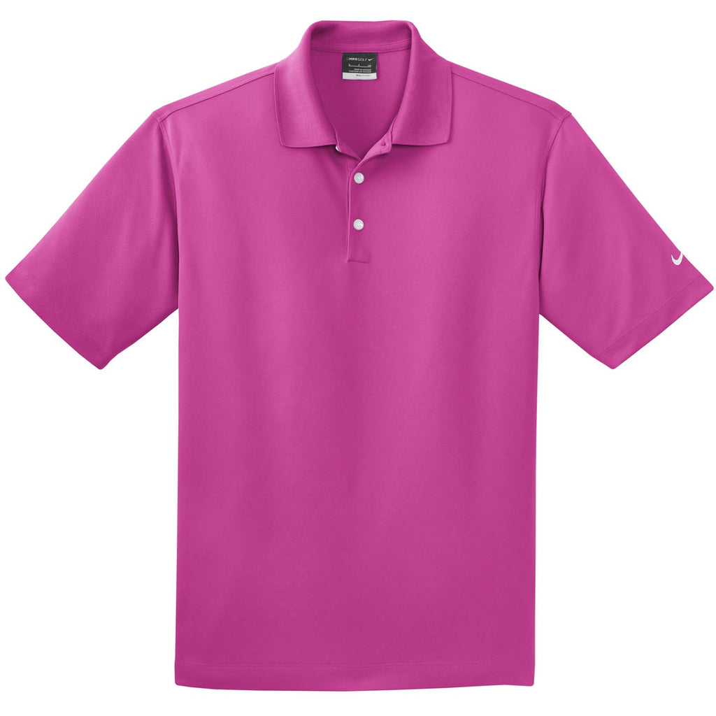 7b77a87c Nike Men's Bright Pink Dri-FIT Short Sleeve Micro Pique Polo. ADD YOUR LOGO