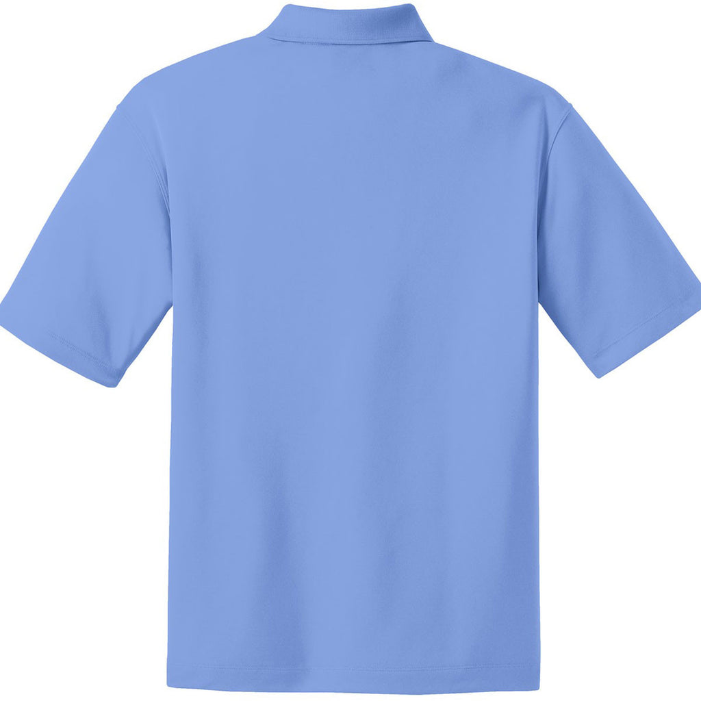 Nike Men's Light Blue Dri-FIT Short Sleeve Micro Pique Polo