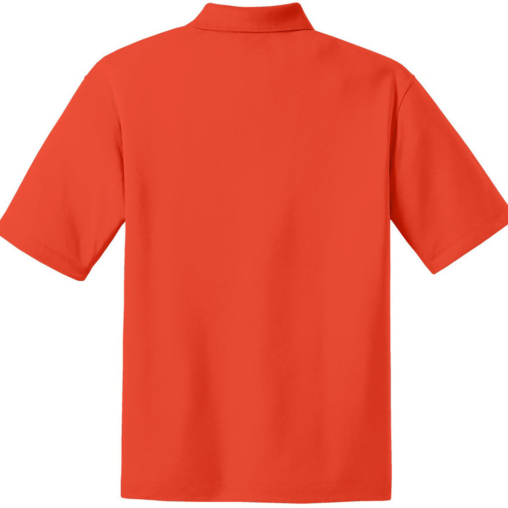 Nike Men's Orange Dri-FIT Short Sleeve Micro Pique Polo