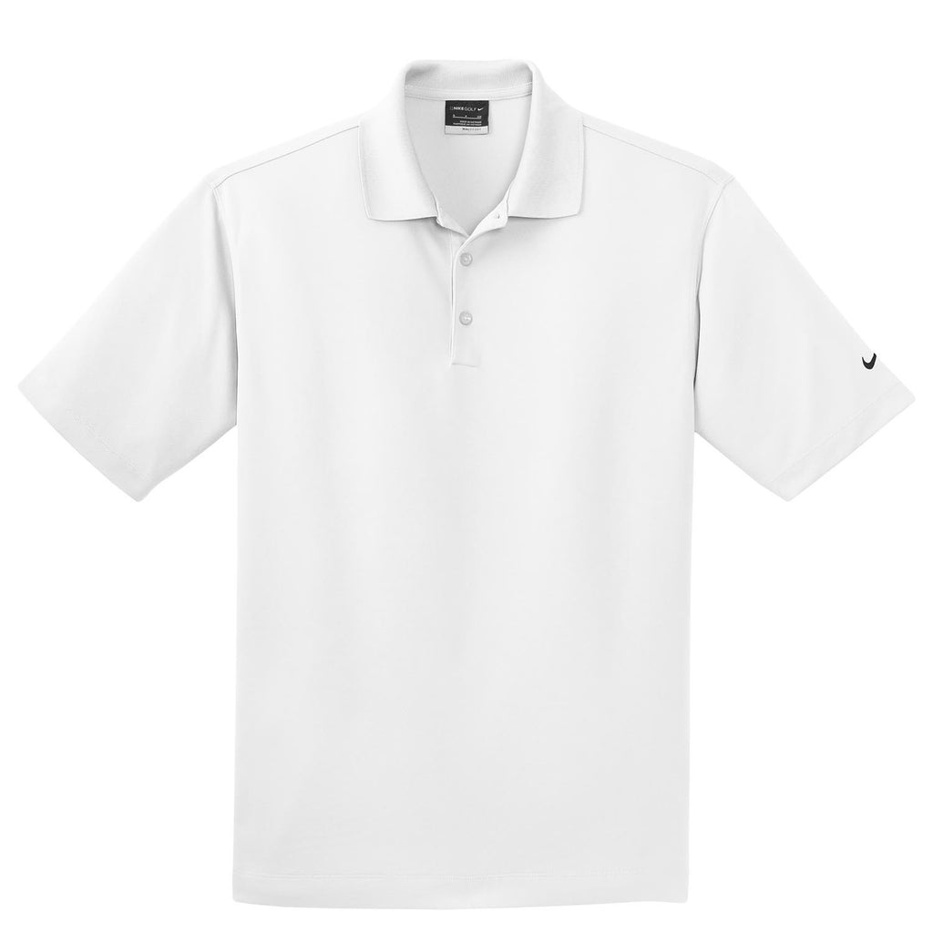 Nike Golf Men S White Dri Fit S S Micro Pique Polo