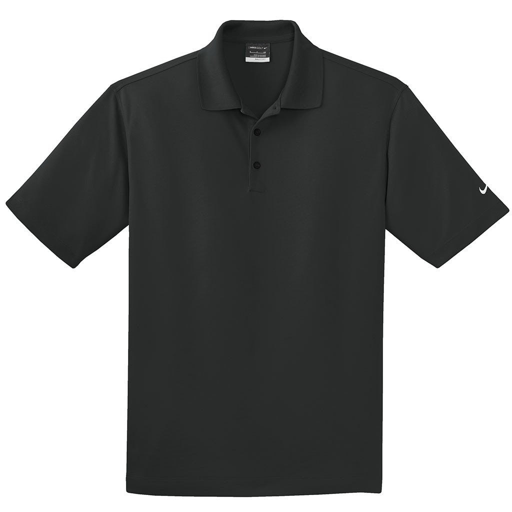 4d1d29390055 Nike Men s Black Dri-FIT S S Micro Pique Polo. ADD YOUR LOGO