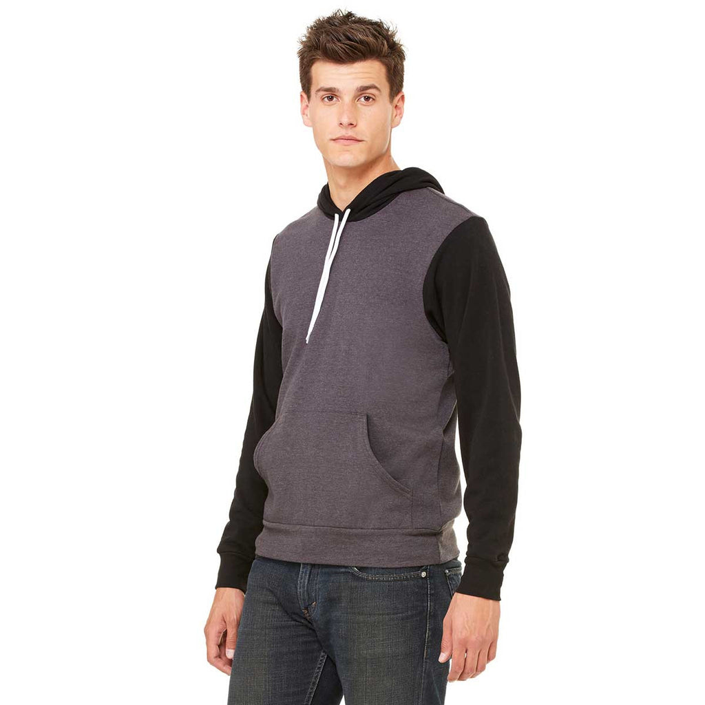 Bella + Canvas Unisex Dark Grey Heather/Black Pullover Hoodie