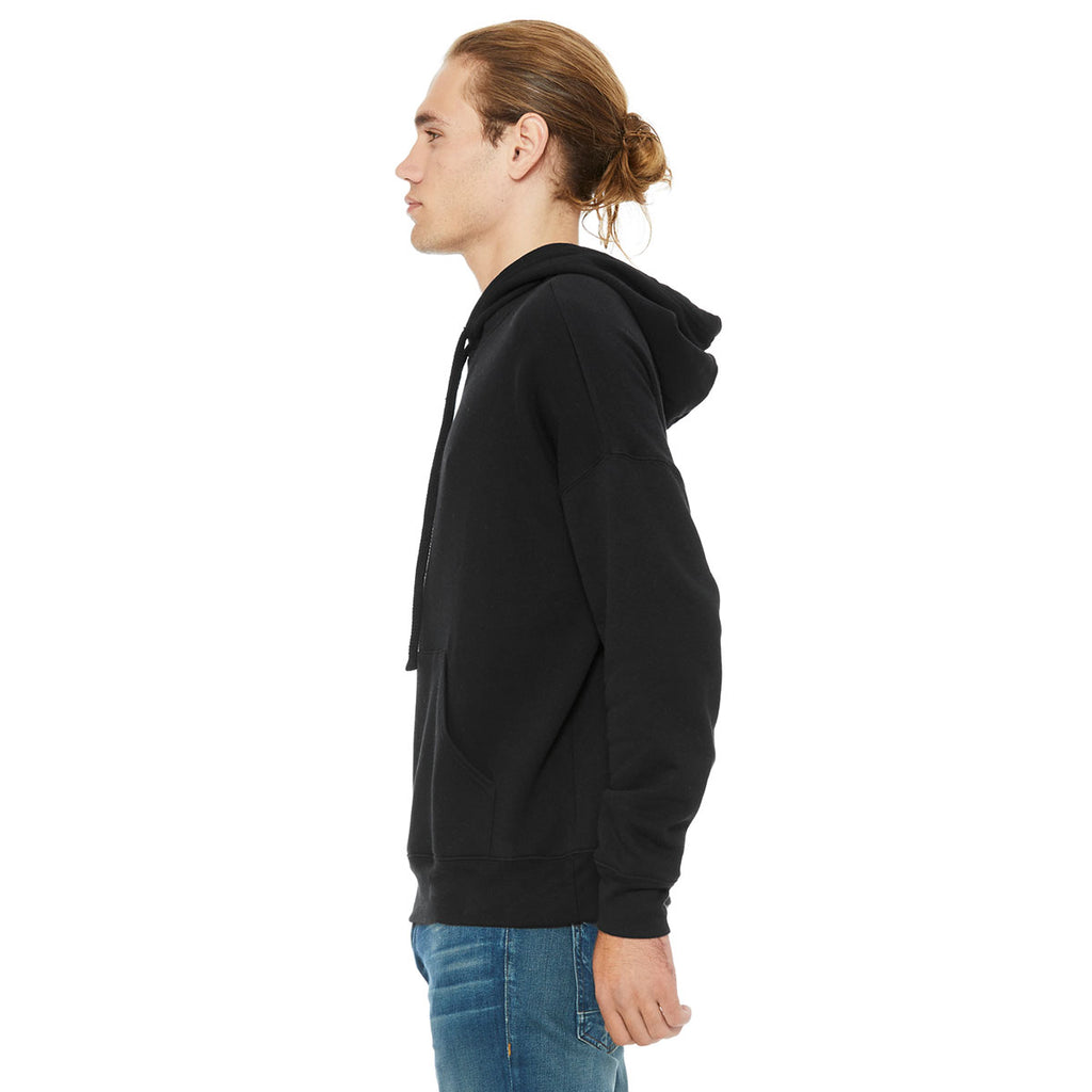 Bella + Canvas Unisex Black Sponge Fleece Pullover Hoodie