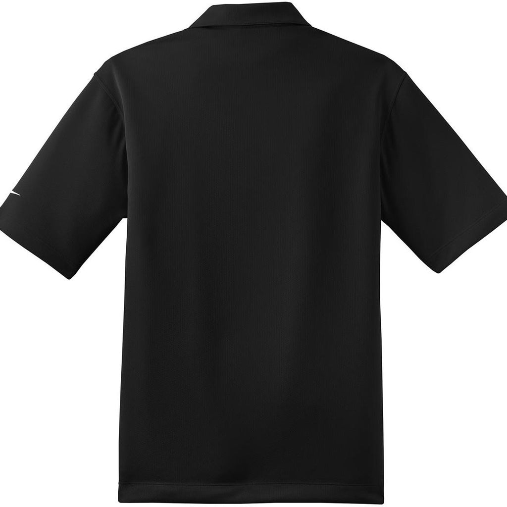 Nike Men's Black Dri-FIT Short Sleeve Pebble Texture Polo