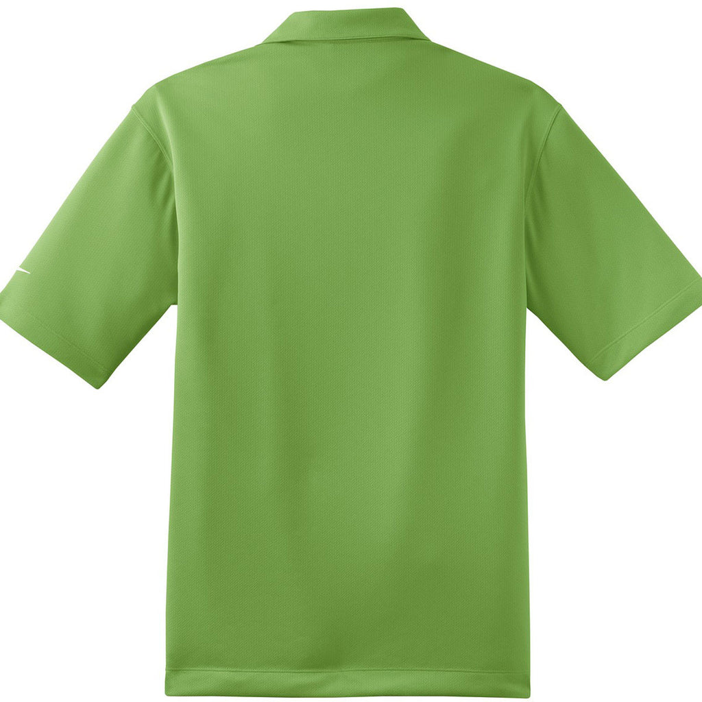 Nike Men's Green Dri-FIT S/S Pebble Texture Polo