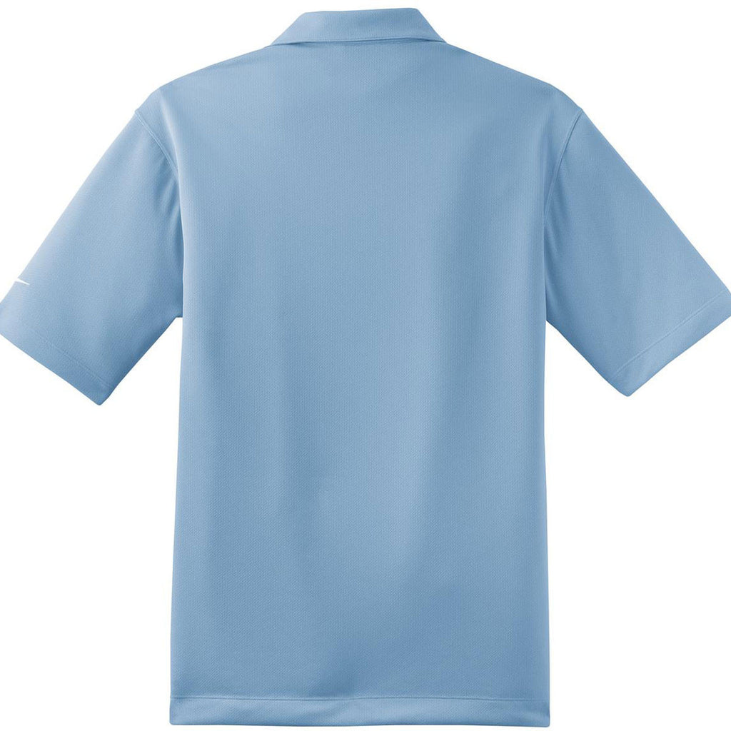 Nike Men's Light Blue Dri-FIT Short Sleeve Pebble Texture Polo