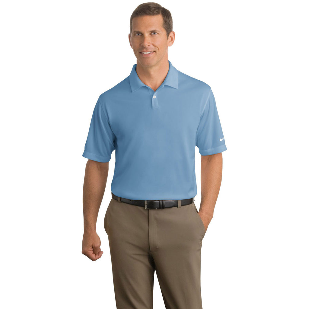 SoftPro - Nike Men's Light Blue Dri-FIT S/S Pebble Texture Polo