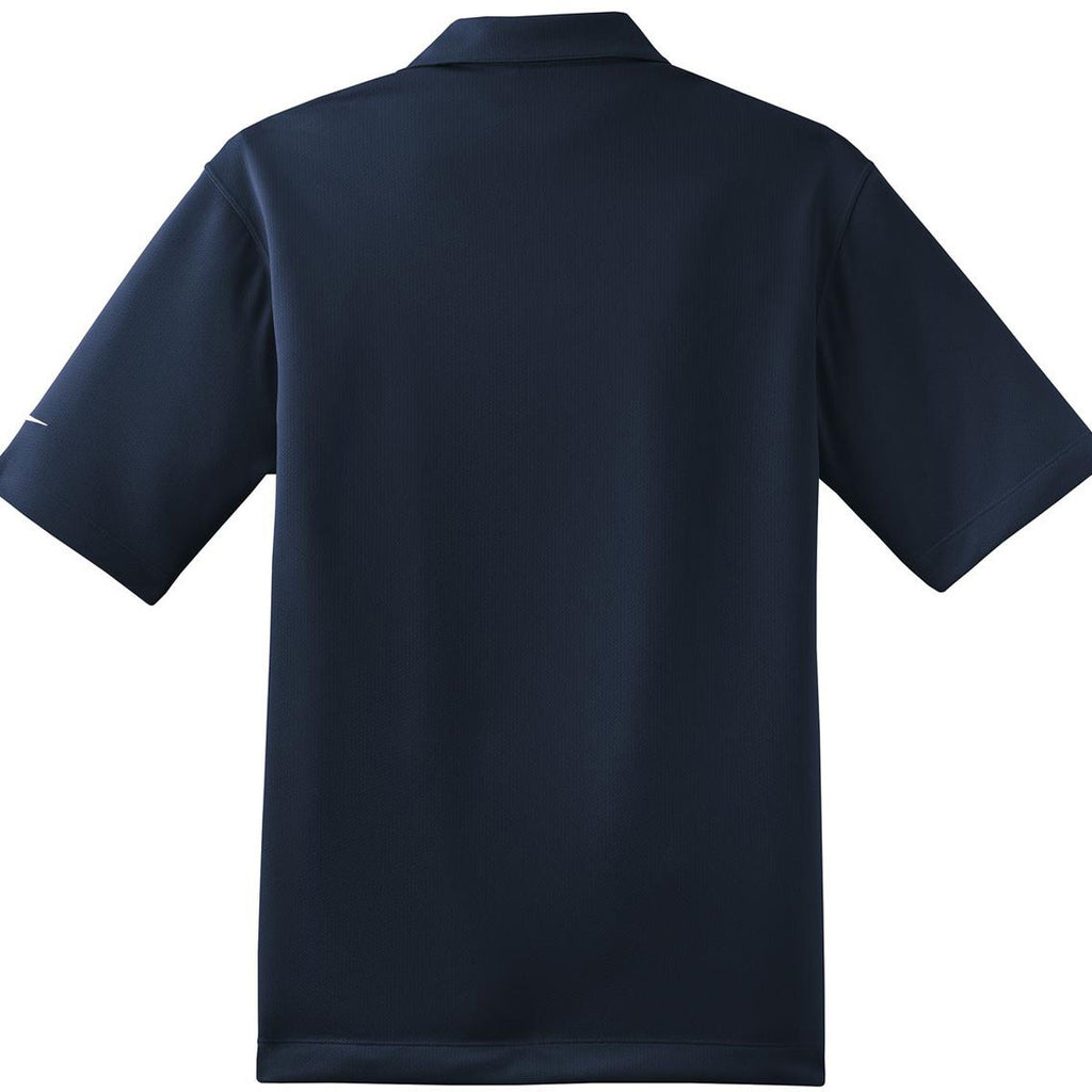 Nike Men's Navy Dri-FIT Short Sleeve Pebble Texture Polo