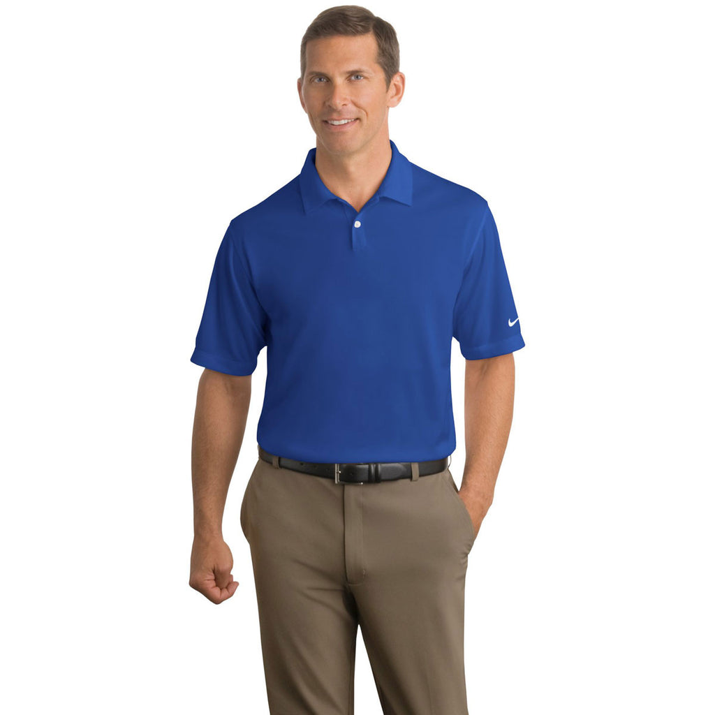 SoftPro - Nike Men's Royal Blue Dri-FIT S/S Pebble Texture Polo