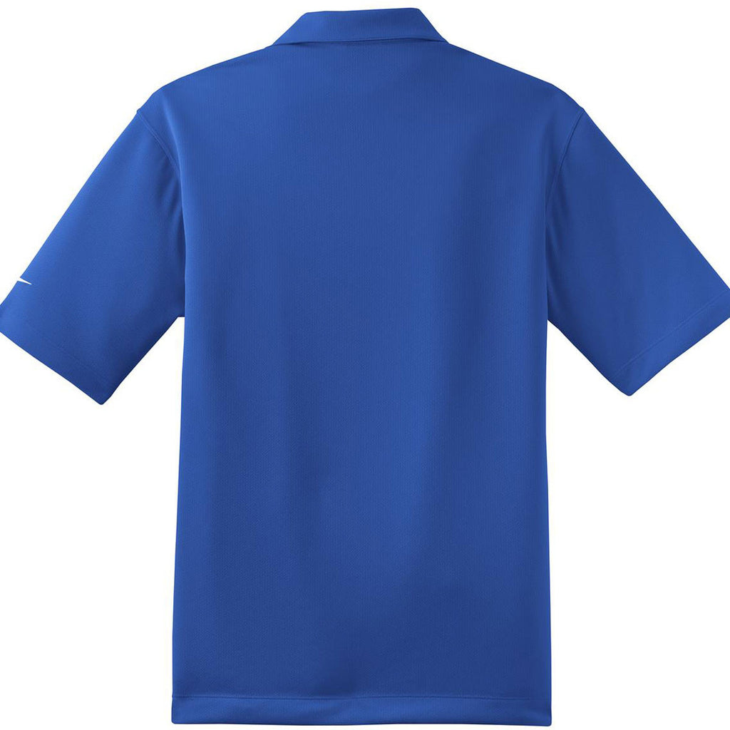 Nike Men's Royal Blue Dri-FIT Short Sleeve Pebble Texture Polo