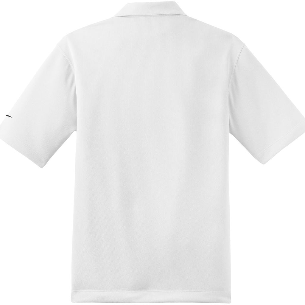 Nike Men's White Dri-FIT S/S Pebble Texture Polo