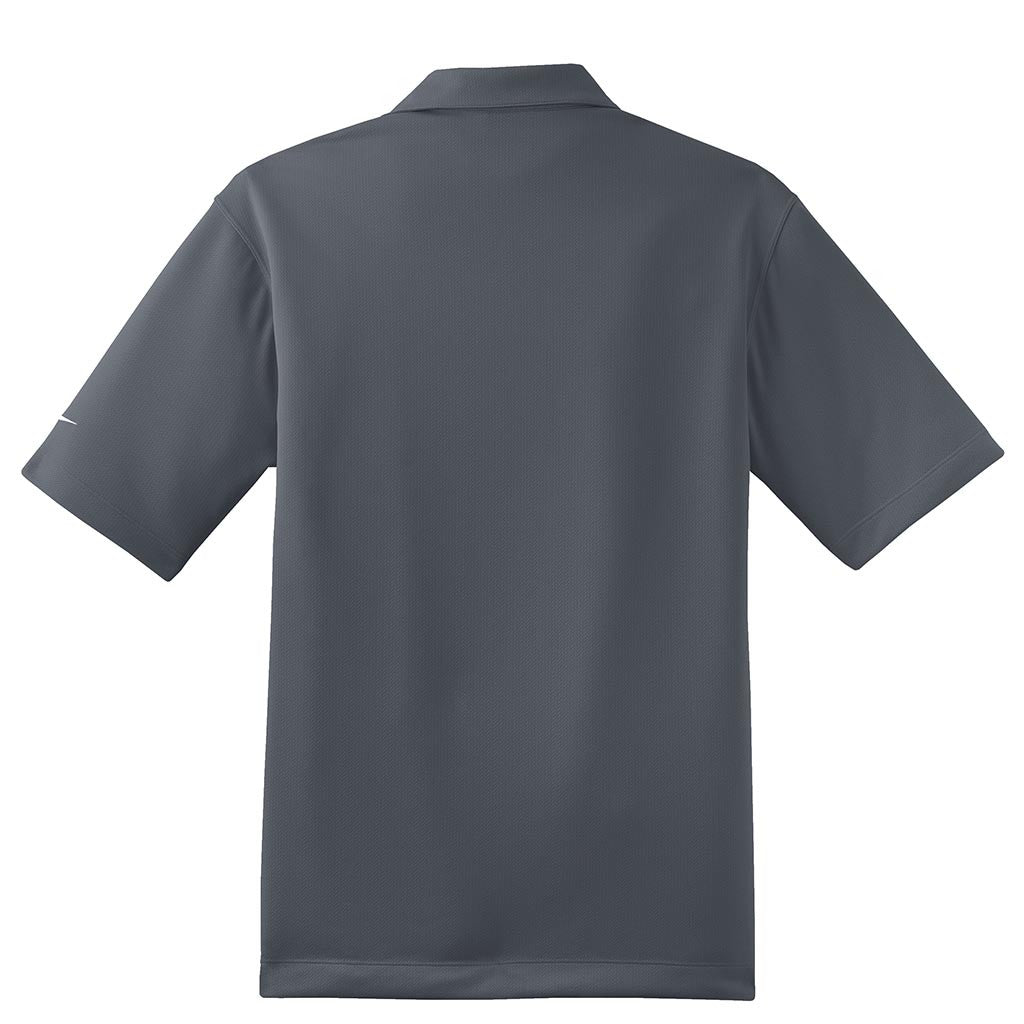 Nike Men's Dark Grey Dri-FIT Short Sleeve Pebble Texture Polo