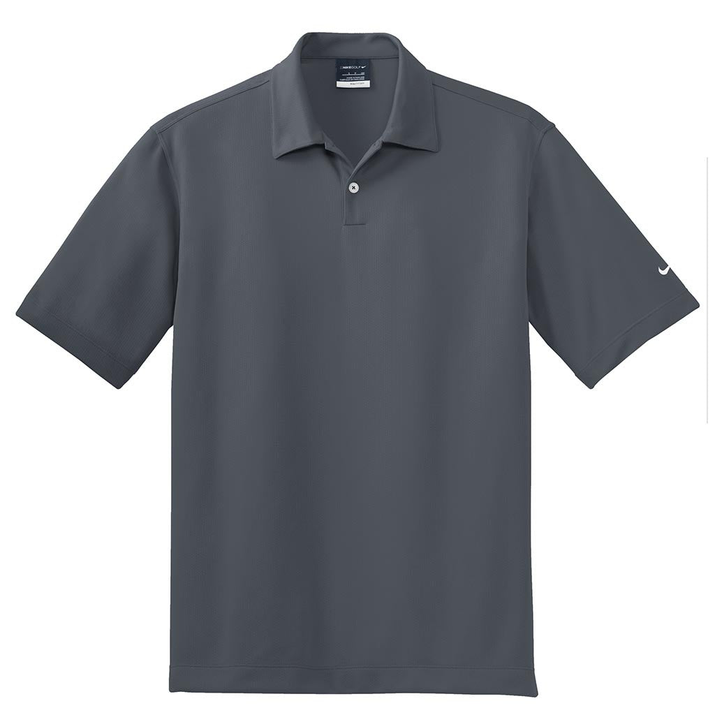 Nike Golf Mens Black Dri Fit Ss Pebble Texture Polo