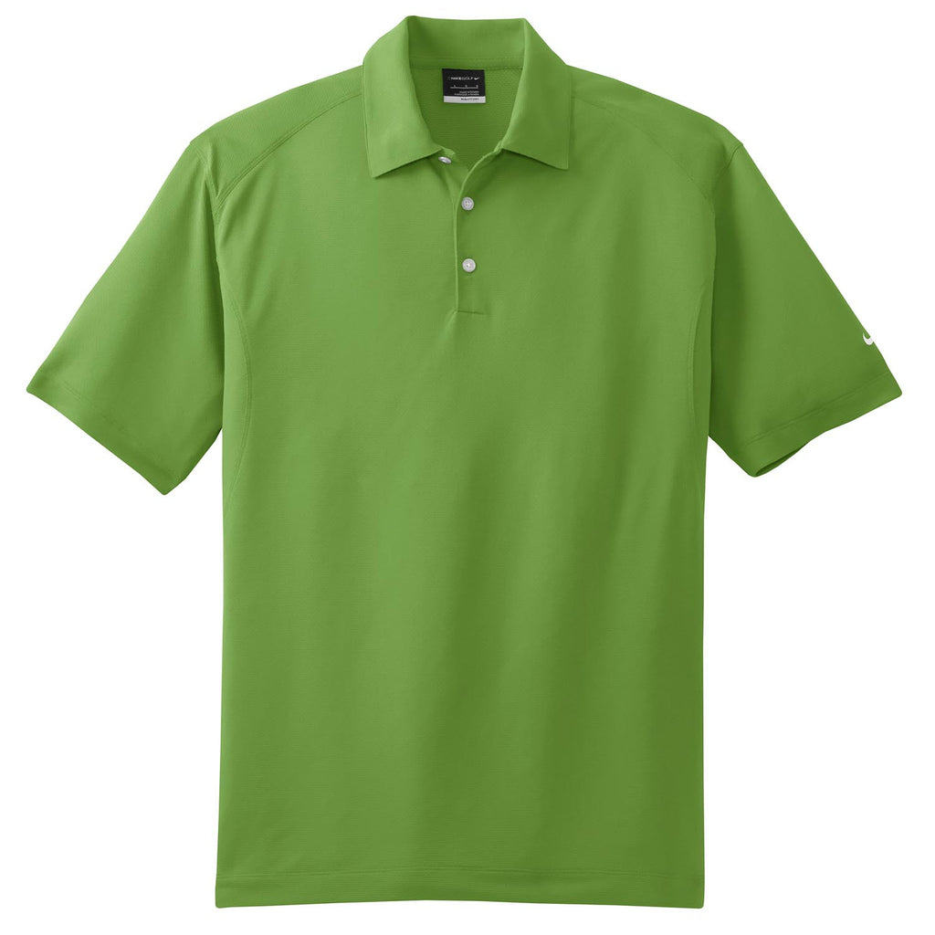 Nike golf men 39 s green dri fit s s mini texture polo for Big and tall custom polo shirts