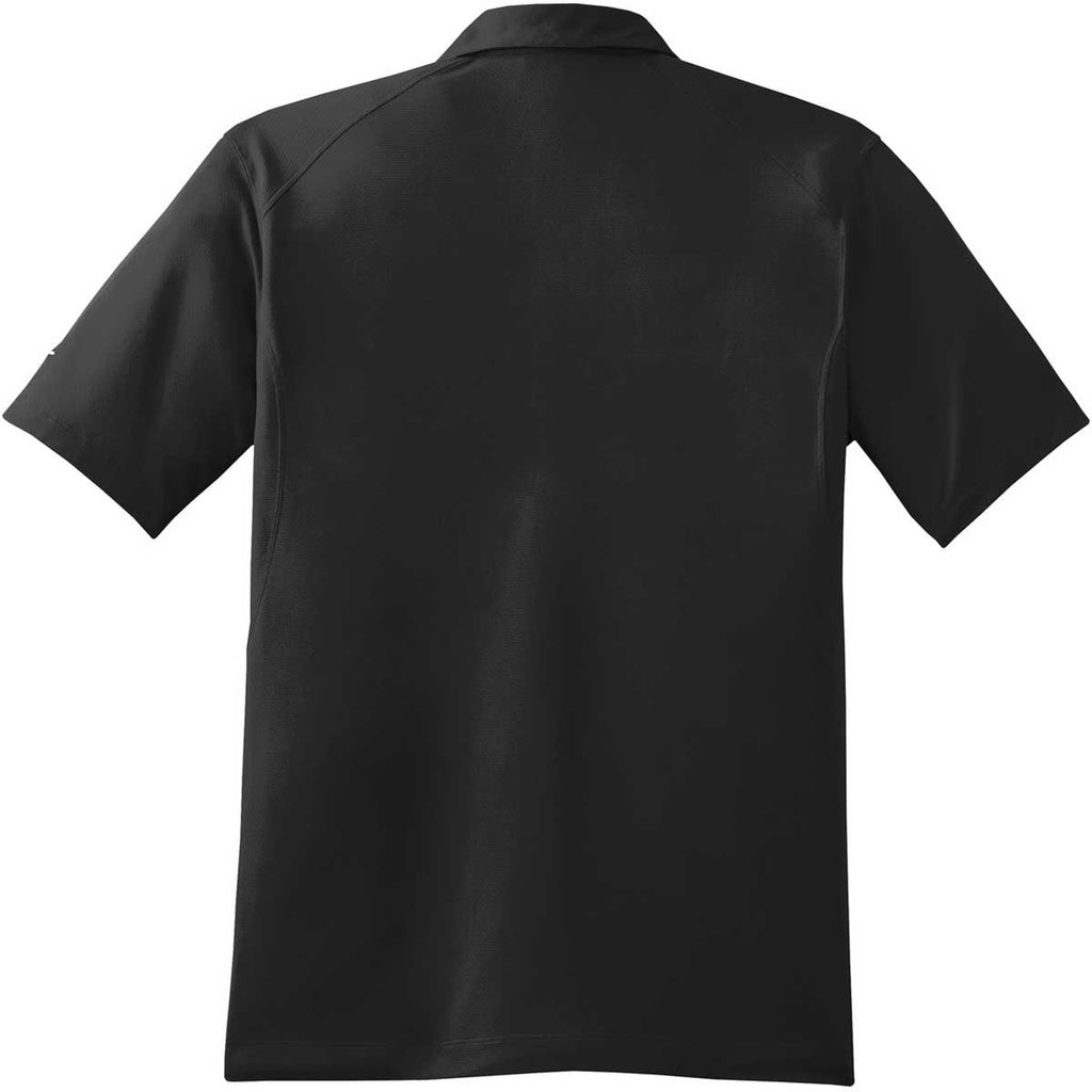 Nike Men's Black Dri-FIT S/S Mini Texture Polo