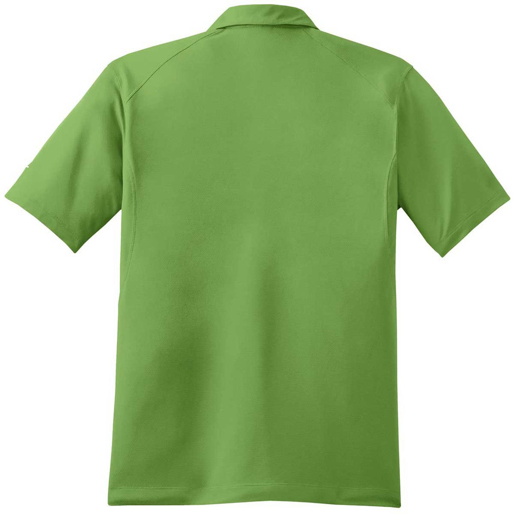 Nike Men's Green Dri-FIT S/S Mini Texture Polo