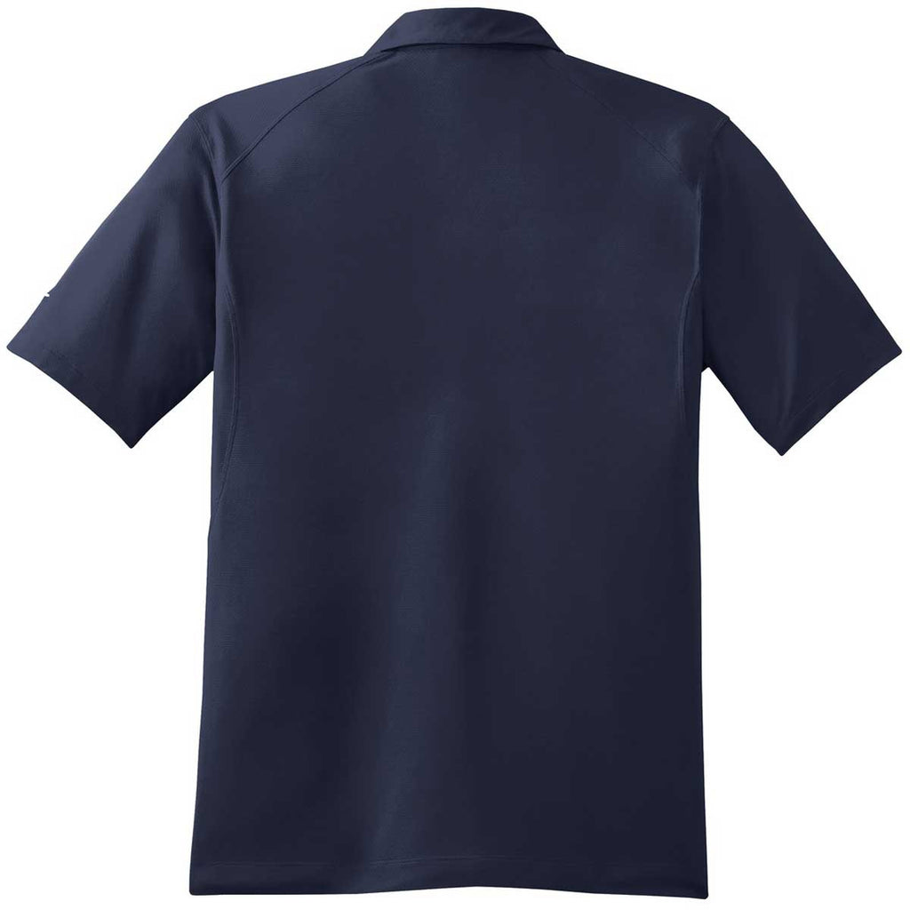 Nike Men's Navy Dri-FIT S/S Mini Texture Polo