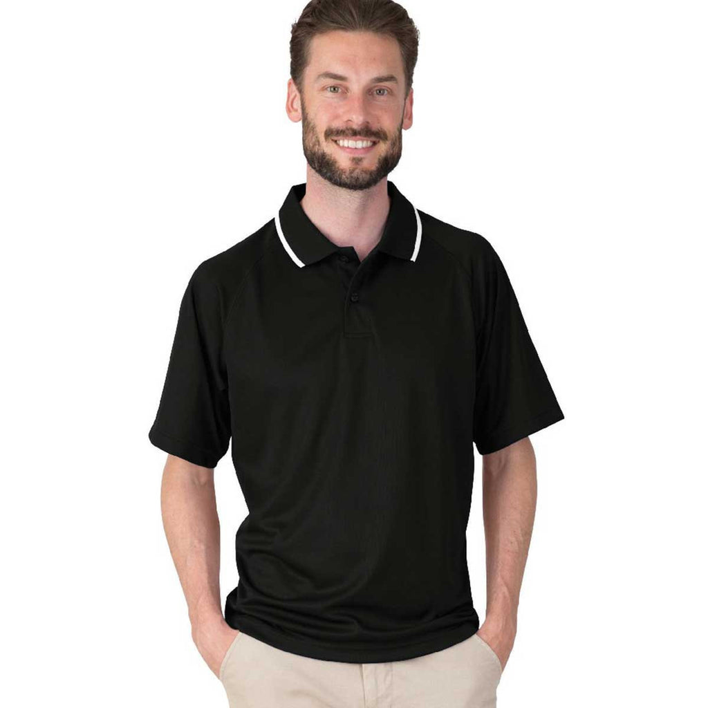 Charles River Men's Black Classic Wicking Polo