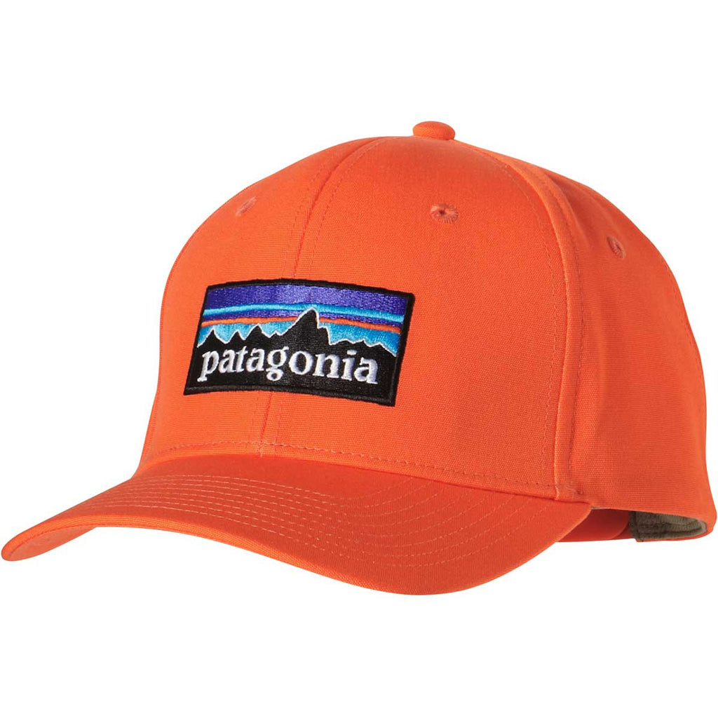 3d03a38b Patagonia Campfire Orange P-6 Logo Roger That Hat