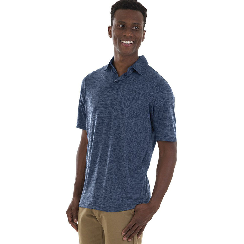 Charles River Men's Navy Space Dye Performance Polo